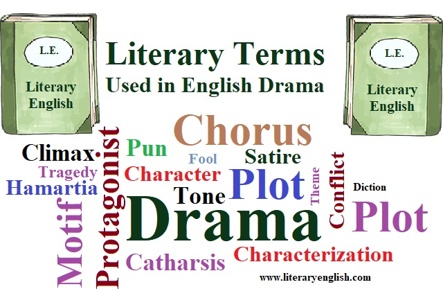 literary terms used in English drama